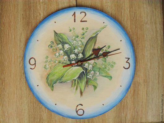 Часы настенные.Часы для дома ручной работы Роспись.Часы настенные с цветами. Часы настенные на кухню. Часы роспись.Часы настенные.