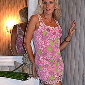 Одежда ручной работы. Ярмарка Мастеров - ручная работа Сарафан вязаный Розовые лепестки. Handmade.