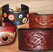 Украшения ручной работы. Ярмарка Мастеров - ручная работа Коллекция браслетов из кожи. Handmade.