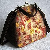 Сумки и аксессуары handmade. Livemaster - original item Bag with clasp: Bag ladies