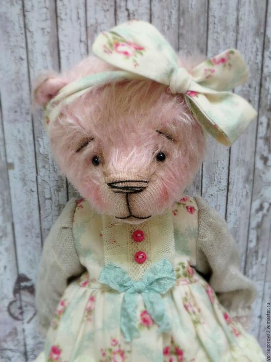 Мишки Тедди ручной работы. Ярмарка Мастеров - ручная работа. Купить Мила. Handmade. Бледно-розовый, мишка в одежке