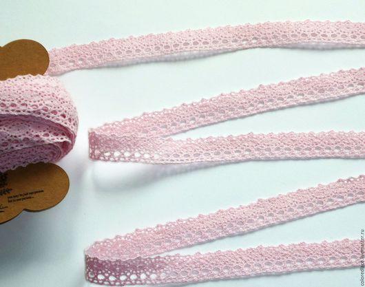 Шитье ручной работы. Ярмарка Мастеров - ручная работа. Купить Бледно-розовое хлопковое кружево арт. 165. Handmade. Кружево