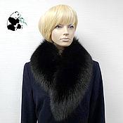 Аксессуары handmade. Livemaster - original item Collar from fur of the black Fox. Art. TK-517. Handmade.