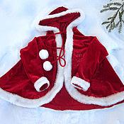 Одежда ручной работы. Ярмарка Мастеров - ручная работа костюм  Красной шапочки (Герды) из бархата. Handmade.