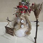 Куклы и игрушки handmade. Livemaster - original item Garret doll: Snowman. Handmade.