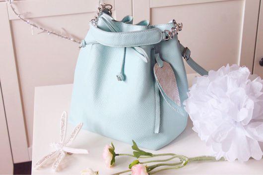 Женские сумки ручной работы. Ярмарка Мастеров - ручная работа. Купить cute bag. Handmade. Голубой, сумка мешок
