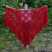 Аксессуары handmade. Livemaster - original item Shal`nara 230x180x180 knit (R-R sides, excluding brushes). Handmade.