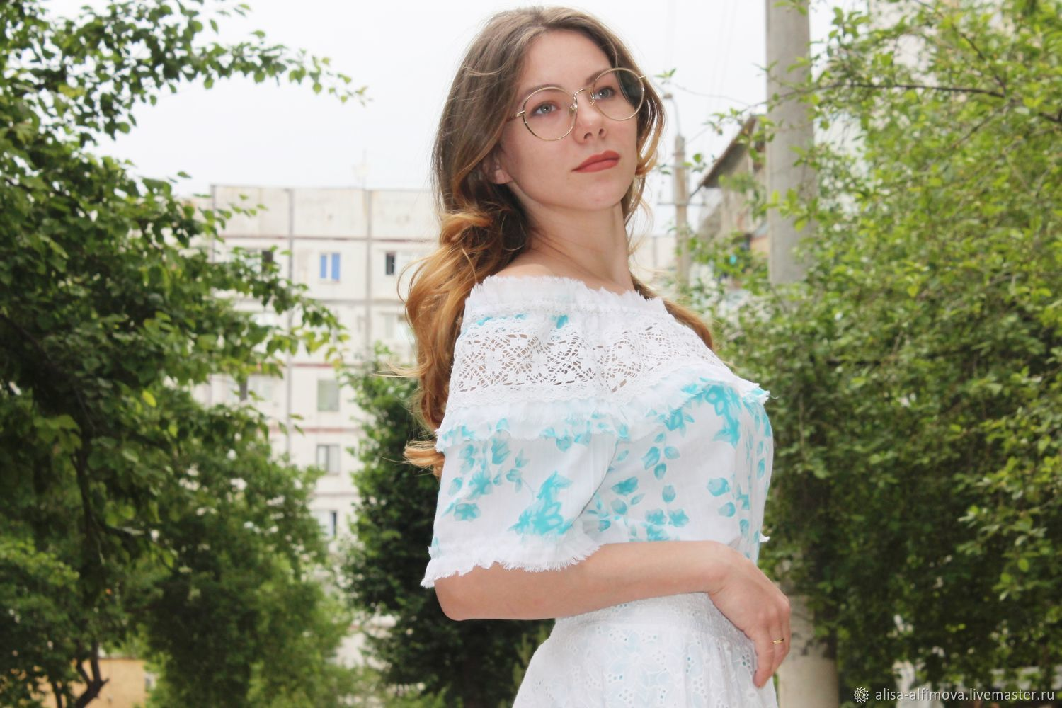 Blouse has lace. Ready or custom-made, Blouses, Tashkent,  Фото №1