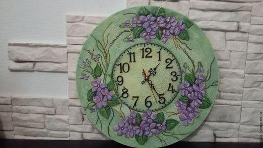 Часы для дома ручной работы. Ярмарка Мастеров - ручная работа. Купить Часы весенние настроение. Handmade. Мятный, подарок