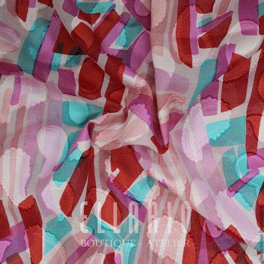 Шитье ручной работы. Ярмарка Мастеров - ручная работа. Купить Хлопок с вышивкой. Handmade. Комбинированный, Плательная ткань, блузочная ткань