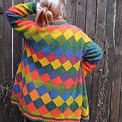 Одежда handmade. Livemaster - original item Cardigan harlequin large. Handmade.