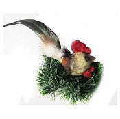 Подарки к праздникам ручной работы. Ярмарка Мастеров - ручная работа Петушок на удачу - сувенир, украшение, подарок. Handmade.