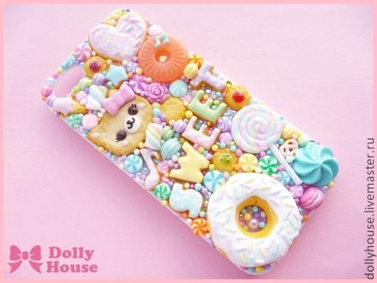 """Для телефонов ручной работы. Ярмарка Мастеров - ручная работа. Купить Чехол для iPhone 5 """"Pastel Candies"""" 14. Handmade."""