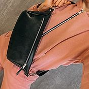 Поясная сумка ручной работы. Ярмарка Мастеров - ручная работа Сумка-бананка через плечо. Handmade.