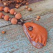 """Украшения ручной работы. Ярмарка Мастеров - ручная работа Колье """"Осень рыжая подружка"""". Handmade."""