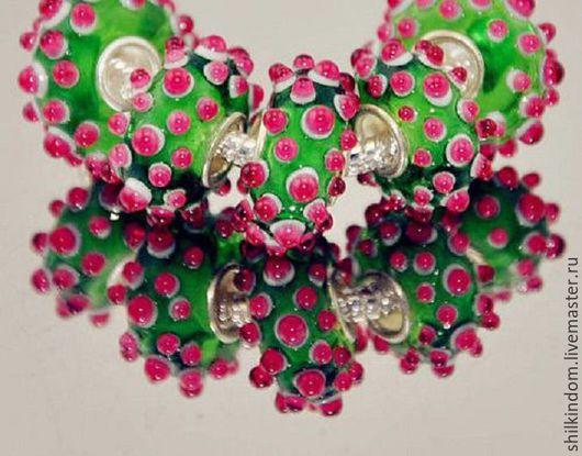 """Для украшений ручной работы. Ярмарка Мастеров - ручная работа. Купить Шарм """"Розовый ёжик"""" с серебром 925 пробы. Handmade."""