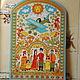 Панно, выполненное по мотивам русской народной росписи Северной-Двины.