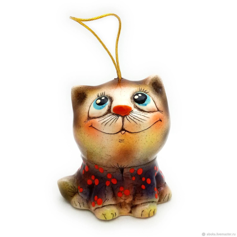 Ceramic bell ' cat in a shirt', Kolokolchiki, Balashikha,  Фото №1