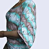 Одежда ручной работы. Ярмарка Мастеров - ручная работа пуловер ажурный из хлопка. Handmade.