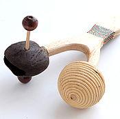Музыкальные инструменты ручной работы. Ярмарка Мастеров - ручная работа Маракас-рогатка двойной звук. Handmade.