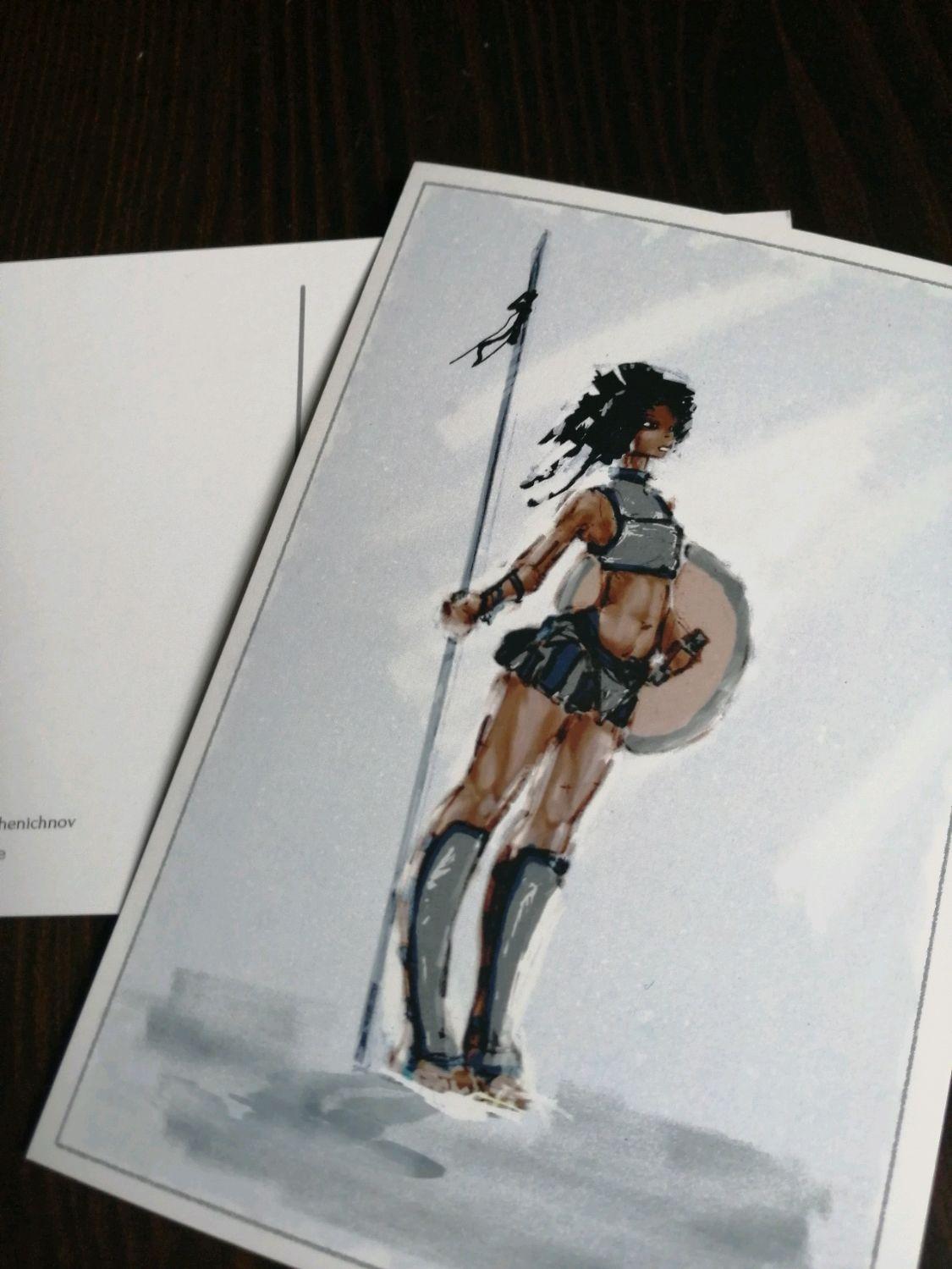 Почтовая открытка: «Разведчица», Открытки, Москва, Фото №1