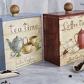 """Для дома и интерьера ручной работы. Ярмарка Мастеров - ручная работа Набор """"Чай и кофе"""". Handmade."""