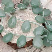 Материалы для творчества handmade. Livemaster - original item Aventurine faceted drop beads 10 x 14 mm color Green (Ref. 2056). Handmade.