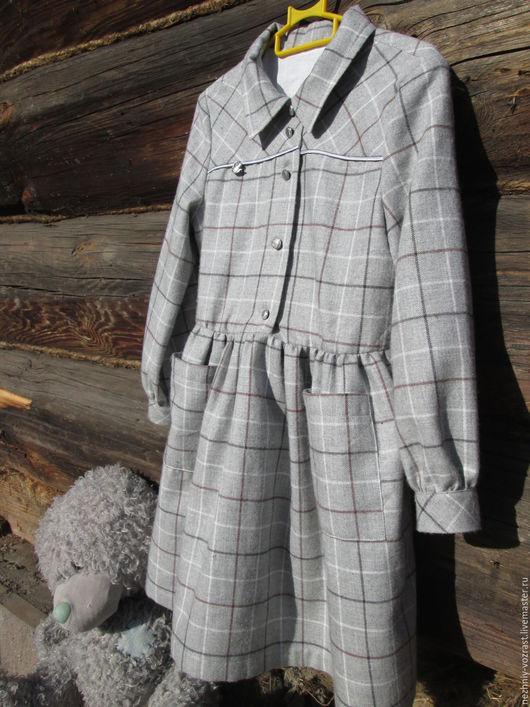 """Одежда для девочек, ручной работы. Ярмарка Мастеров - ручная работа. Купить Плате  """" Шум тишины"""". Handmade. Серый, девочке"""