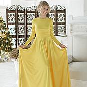 "Одежда handmade. Livemaster - original item ""Yellow Sun"" chic knitted dress. Handmade."