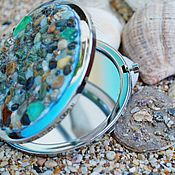 Для дома и интерьера ручной работы. Ярмарка Мастеров - ручная работа зекрало карманное морской берег. Handmade.