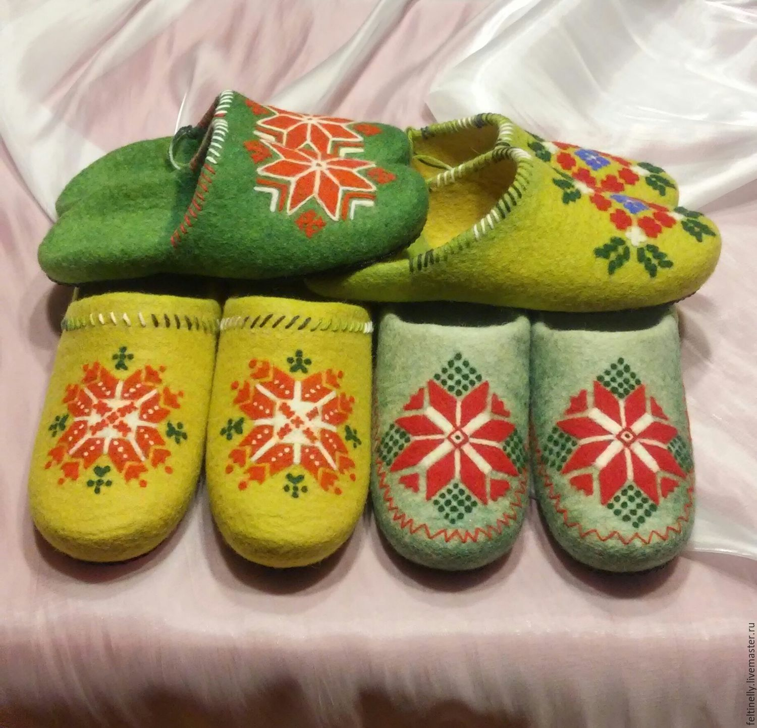 With Belarusian accent)). Felted Slippers, Slippers, Vitebsk,  Фото №1