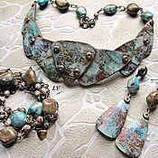 Украшения handmade. Livemaster - original item Jewelry Polymer clay Necklace - hryvnia, earrings, bracelet. Handmade.