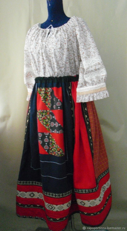 Понева льняная,нераспашная, Народные костюмы, Красково,  Фото №1