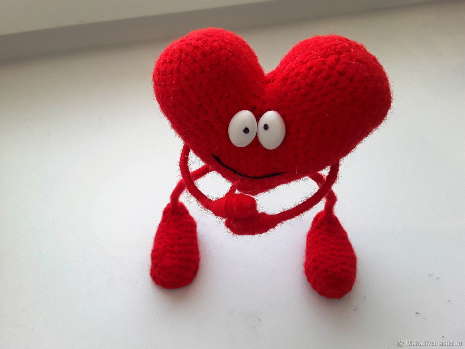 Soft toys: Knitted heart, Stuffed Toys, Teykovo,  Фото №1