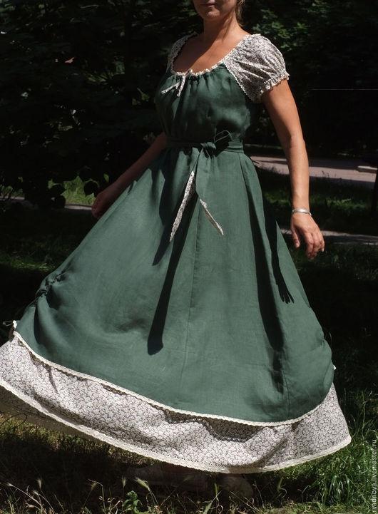 Платья ручной работы. Ярмарка Мастеров - ручная работа. Купить платье Лесная хвоя. Handmade. Комбинированный, женственность, нарядное платье