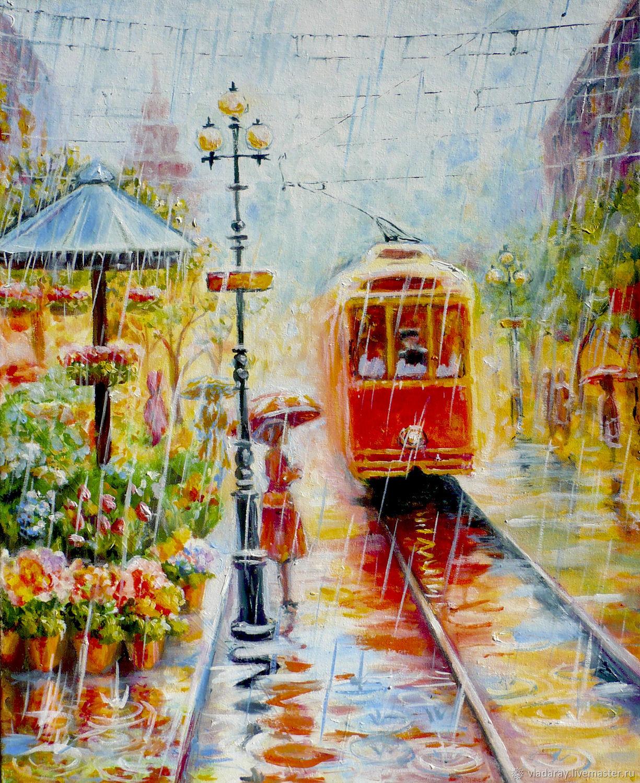 """Картина """"Трамвайное настроение"""", Картины, Кишинев,  Фото №1"""