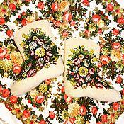Обувь ручной работы. Ярмарка Мастеров - ручная работа Валенки и платок. Handmade.