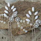 Свадебный салон ручной работы. Ярмарка Мастеров - ручная работа Свадебные шпильки, украшение в прическу невесты. Handmade.