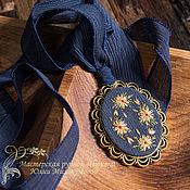 Украшения handmade. Livemaster - original item Embroidered pendant La noche de los girasoles (3). Handmade.