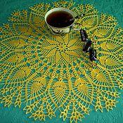 Для дома и интерьера ручной работы. Ярмарка Мастеров - ручная работа Салфетка Солнце. Handmade.