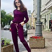 Одежда ручной работы. Ярмарка Мастеров - ручная работа Спортивный костюм из хлопка (фиолетовый). Handmade.