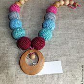 Куклы и игрушки handmade. Livemaster - original item Slingobusy Ring with a bead. Handmade.