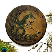"""Для дома и интерьера ручной работы. Ярмарка Мастеров - ручная работа Часы настенные """"Луна дракона"""". Handmade."""