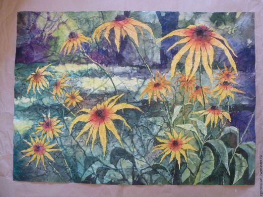 Картины цветов ручной работы. Ярмарка Мастеров - ручная работа. Купить Акварель ,,Цветы на даче,,. Handmade. Комбинированный, лето, дача