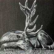 Картины и панно ручной работы. Ярмарка Мастеров - ручная работа Благородный олень.. Handmade.