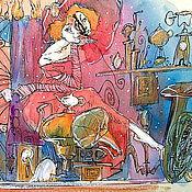 """Картины и панно ручной работы. Ярмарка Мастеров - ручная работа """"Перерыв на чай"""". Handmade."""