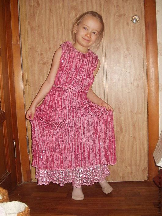 Одежда для девочек, ручной работы. Ярмарка Мастеров - ручная работа. Купить Праздничное платье для девочки. Handmade. Розовый, однотонный, вышивка
