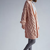 Одежда handmade. Livemaster - original item An oversized cardigan powder color. Handmade.