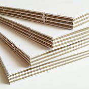 Материалы для творчества ручной работы. Ярмарка Мастеров - ручная работа Блок для блокнота А6 белый+крафт. Handmade.