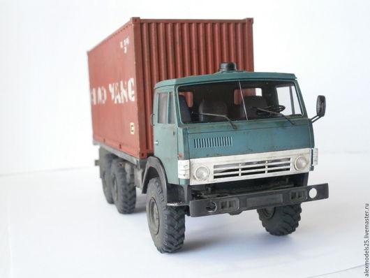 Миниатюрные модели ручной работы. Ярмарка Мастеров - ручная работа. Купить КАМАЗ-4310. Handmade. Грузовик, резина